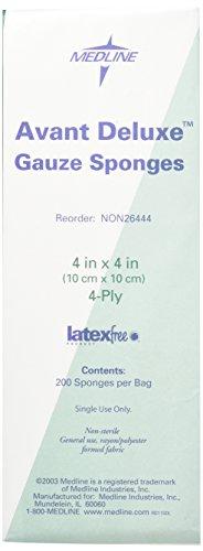 Medline NON26444 Avant Deluxe Non-Sterile Gauze Sponge, 4