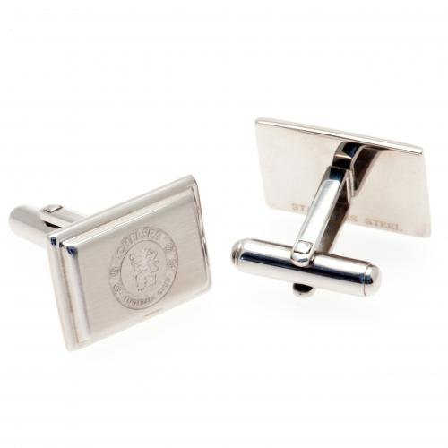 Chelsea F.c. Stainless Steel Cufflinks by Footie Gifts