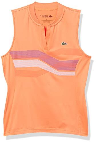 Lacoste Women's Sport Sleeveless V-Neck Printed Super Dry Golf Polo