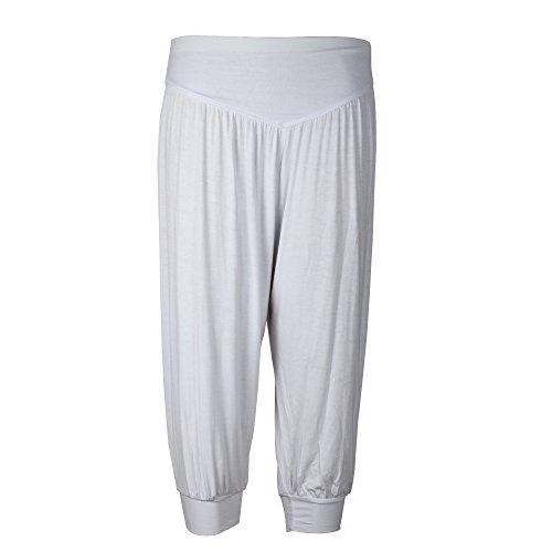 donne lunghezza Modal Yoga pantaloni di 4 Group gamba Nuovi della comodi ultra 3 per Harem Sidiou pantaloni cascanti Bianca pantaloni di morbido AIa8wwq