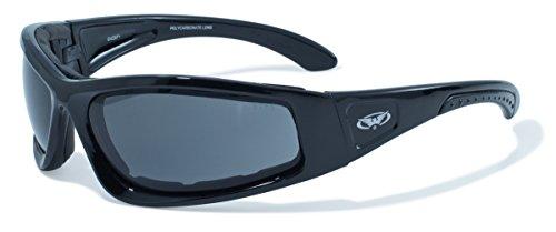Global Vision Eyewear Black Frame Triumphant Safety Glasses, Smoke, - Sunglasses Zero G