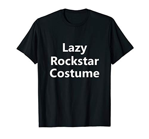 Rockstar Halloween Costumes Ideas - Funny Lazy Rockstar Band Halloween Costume