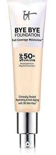 2018 NEW FORMULA – FAIR LIGHT- IT Cosmetics Bye Bye Foundation Full Coverage Moisturizer SPF 50+. 1 oz-30 ml