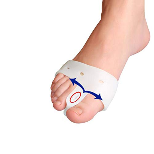 - HALLUX Valgus Bandage Toe Splitter Splint Night Splint Socks Correction Bunion Sleeve Night Splint with Built in Gel Pad Protector and Toe Spreader for Pain Relief- (1 Piece)