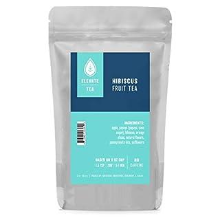 Elevate Tea HIBISCUS FRUIT TEA, 27 servings, 3 oz Pouch, Caffeine Level: None, Single Unit, 3 oz