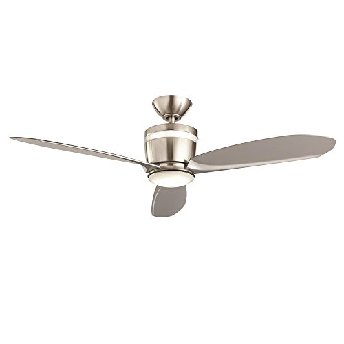 Federigo 48 In. LED Indoor Brushed Nickel Ceiling Fan By Home Decorators  Collection