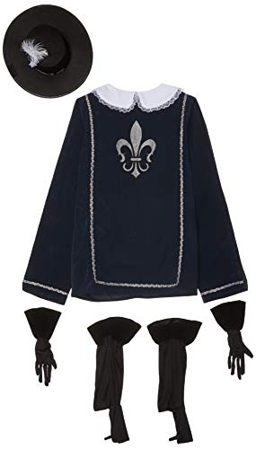 Smiffy's Men's Musketeer Male Costume, Navy L - US Size 42