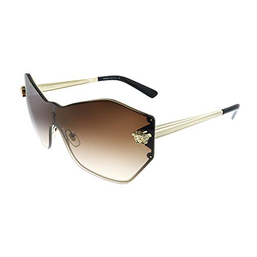 (Versace Womens Sunglasses Gold/Brown Metal - Non-Polarized - 43mm)