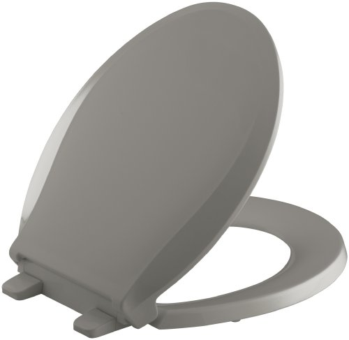 - KOHLER K-4639-K4 Cachet Quiet-Close with Grip-Tight Bumpers Round-front Toilet Seat, Cashmere