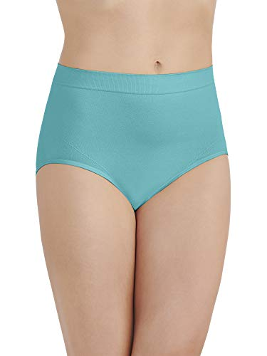 Vanity Fair Women's Smoothing Comfort Seamless Brief Panty 13264, Rainforest Aqua, - Brief Panty Aqua
