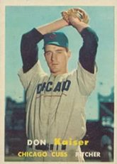 1957-topps-regular-baseball-card-134-don-kaiser-of-the-chicago-cubs-ex-condition