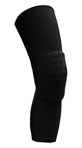 Price comparison product image ChezMax Extended Compression Leg Sleeve with Max Contact Pad - One Pair,  Black