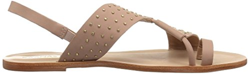 KAANAS Studded Paulo Sao Leather Nude Flat WoMen Sandal q6rZwt6