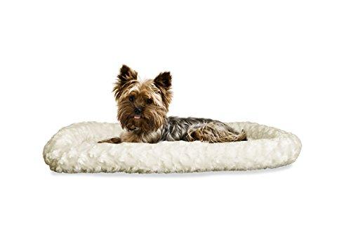 FurHaven Pet Kennel Pad | Ultra Plush Bolster Pet Bed for Ke