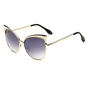 Konalla Vintage Inspired Fashion High Pointed Cat Eye Sunglasses C1