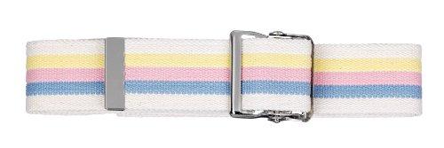 Prestige Medical 621-spb Cotton Gait Belt with Metal Buckle Stripes White ()