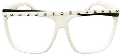 [Novelty Costume Party Rock Flat Top Lmfao Glasses Music Video Shade Eyewear (White ( No WORD ))] (Lmfao Costume Party Rock)