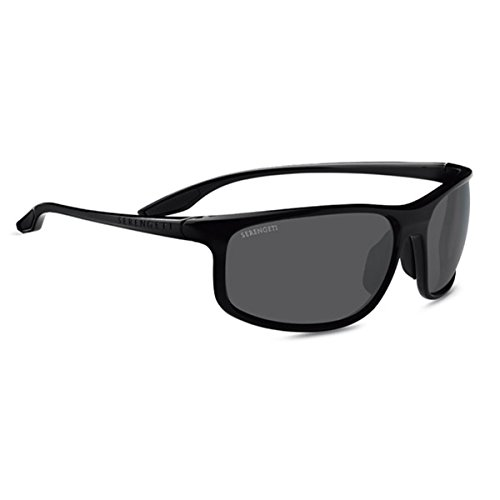 Serengeti Ponza Sunglasses Shiny Black, Dark Grey by Serengeti