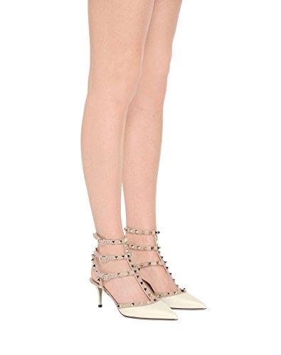 Strap Slingback Matte Punta Dress Gold Caitlin Studs Punta con Heel a Cinturino Sandali con Borchie Donna Pan Nude Stud White Kitten wwgaqRv