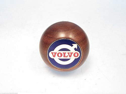 Amco Walnut Gearshift Knob w/Volvo Emblem Fits Volvo 142 144 & 145 1966-1974