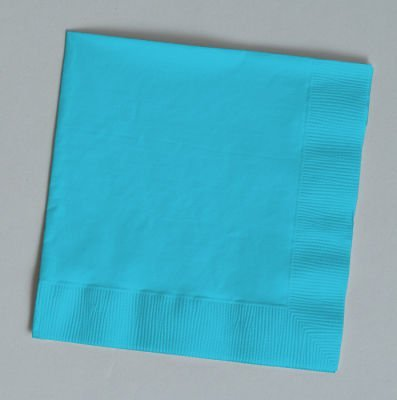 Creative Converting Paper Napkins, 3-Ply Luncheon Size, Bermuda Blue Color, 5... Bermuda Blue Dinner
