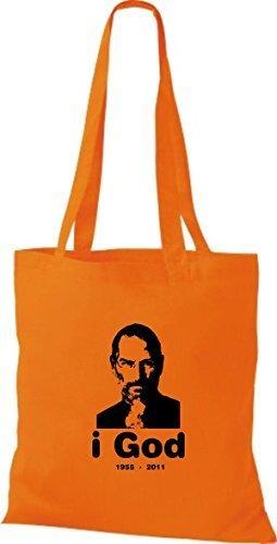 Borsa Panno Delle Cotone Di Donne Arancione Shirtinstyle qTwXA1X