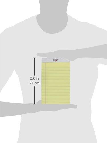 Schule smart Standard Legal Pads Pads Pads – 12,7 x 20,3 cm – Pack von 12 – Kanarischen B0042SUTCK | Mama kaufte ein bequemes, Baby ist glücklich  b07b14