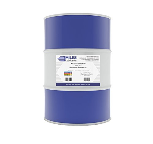 MILES LUBRICANTS M00100301 Syn Sb 10W30 Gf-5 Sn, Synthetic Blend Motor Oil, 55 gal, Drum (55 Gallon Drum Of 10w30 Motor Oil)