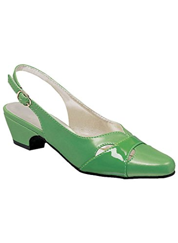AngelSteps Women's Adult Juniper Synthetic Pumps Shoes Dress Shoes 8 Medium US Women/Green - Juniper Green Apparel
