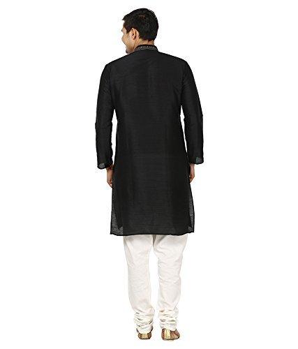 Royal Kurta Men's Superfine Linen Kurta Pyjama Set 42 Black by Royal Kurta (Image #3)