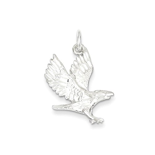 Charm Eagle Sterling Solid Silver (Solid Sterling Silver Eagle Charm Pendant)