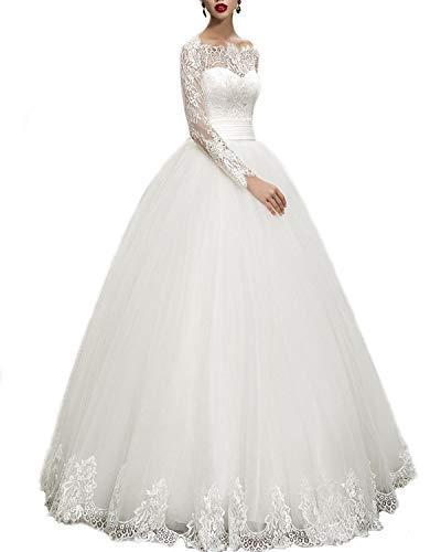 (WeddingDazzle Wedding Dresses Ball Gown Sweetheart Wedding Gown Wedding Bridal for Women's 2 Ivory )