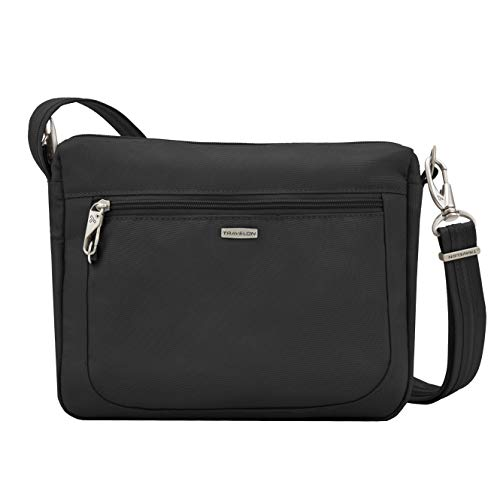 Travelon Anti-Theft Classic Small E/w Crossbody Bag, Black, 10.5 x 8 x 2.5