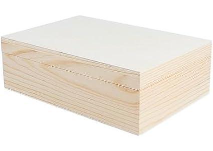 Caja de madera de pino macizo para decorar de 22x15x7