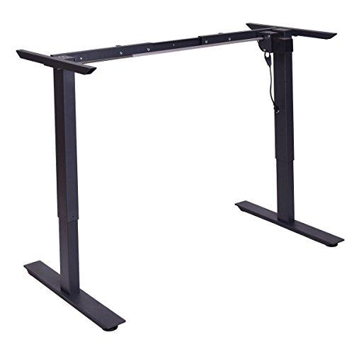 - Tangkula Electric Stand Up Desk Frame with Single Motor Metal Height Adjustable Frame (Black)