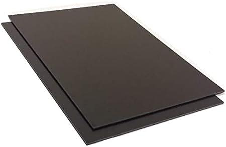 Placa de plástico ABS 3mm Negro 500x300mm (50x30cm) Acrilonitrilo Butadieno Estireno - Película protectora de una cara - Top Calidad!
