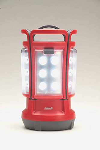 Lantern Light Coleman - Coleman Quad LED Lantern Special Edition Ultra Bright 190 Lumens, Red