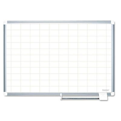Mastervision - Grid Planning Board 2X3 Grid 72X48 White/Silver ''Product Category: Presentation/Display & Scheduling Boards/Planning Boards/Schedulers'' by Original Equipment Manufacture