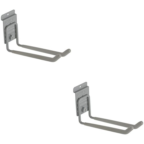 Heavy Duty Long Universal Slatwall Double Hook with CamLok (Pack of 2) by StoreWALL