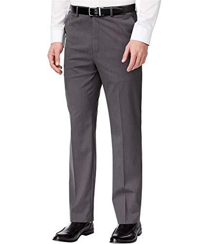 Michael Kors New $175 DK Gray Pindot Flat Front Stretch Dress Pants Size 42X30