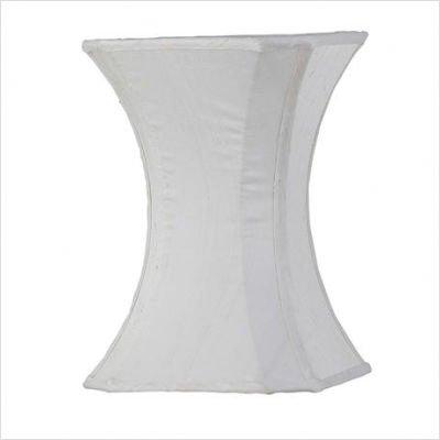 Jubilee Collection 3418 Plain Hourglass Shade, Medium, White