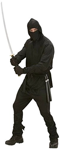 1605 Costume (Medium Black Adults Ninja Costume)