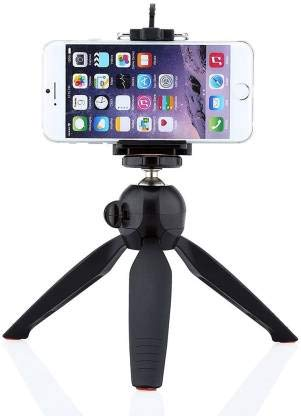 Speeqo® Flexible Mini Tripod  6 Inch Height  for Camera, DSLR and Smartphones with Universal Mobile Attachment  Black