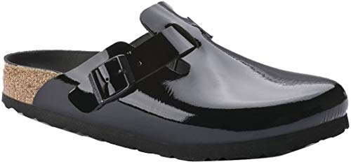 Birkenstock Womens Boston HEX Clog, Black Patent Leather, Size 39 N EU (8-8.5 N US Women) (Clogs Professional Birkenstock)