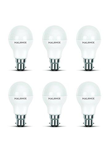 Halonix Photon Plus Base B22 7-Watt LED Bulb (Pack of 6, Cool Day Light)