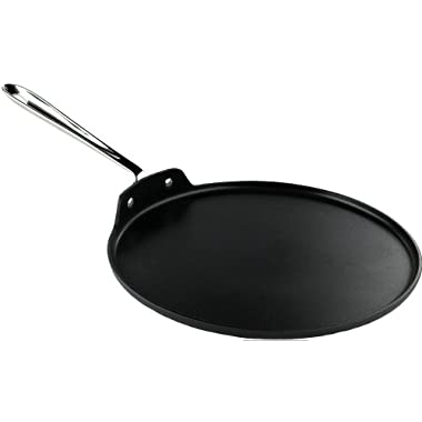All-Clad 30124 Specialty Round Hard Anodized Aluminum Nonstick Griddle Pan Cookware, 12-Inch, Silver