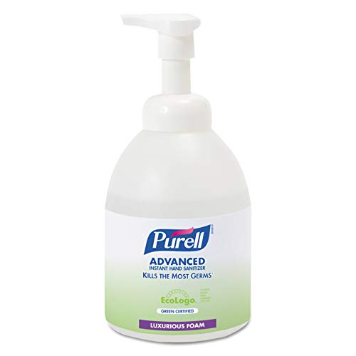 (PURELL Advanced Green Certified Hand Sanitizer, Gentle & Free Foam, 535 mL EcoLogo Certified Sanitizer Table Top Pump Bottles (Case of 4) -)