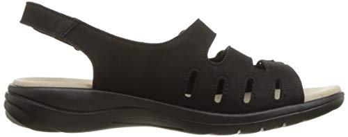 5 Quartz Black Sandal Saylie Clarks Nubuck Women's YzaCxF