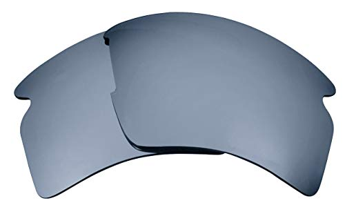 Seek Optics Replacement Lenses for Oakley FLAK 2.0 XL, Black Iridium Polarized