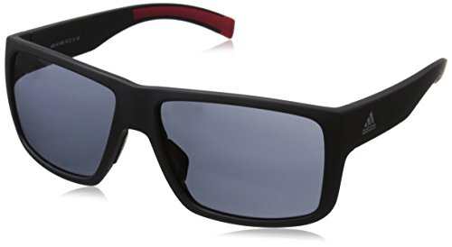 adidas Mens Matic a426 6063 Rectangular Sunglasses, Matte Black, 59 mm (Sunglasses Men Adidas)